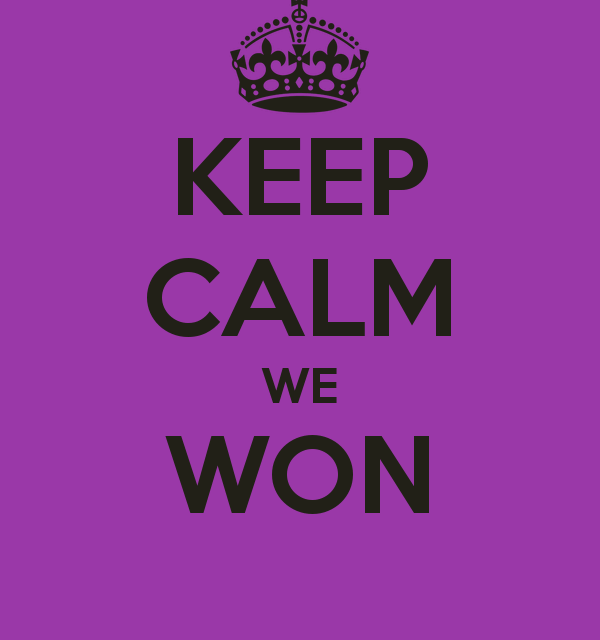 We Won!!!!